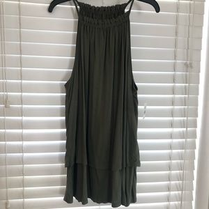 Green Ann Taylor Loft tank top